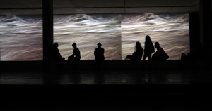 Treno, 2007. Multi-channel video installation. Museo de Arte, Universidad Nacional de Colombia, 2009. León Darío Pelaez, photographer.