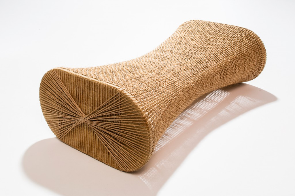 Stool from the Out of Balance project, 2010–11. Made by artisans from Curití, Colombia. Guadua bamboo, sisal fiber. Stefano Stagni, photographer.