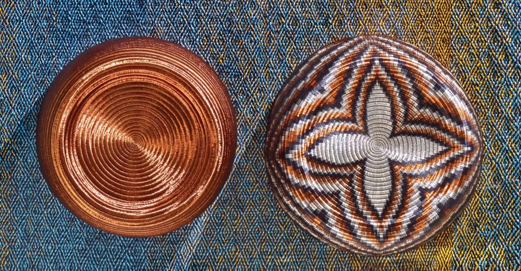 Wouna and Woun stools (with Neymar area rug), 2013. Courtesy of Jorge Lizarazo / Hechizoo / Cristina Grajales Gallery, New York.
